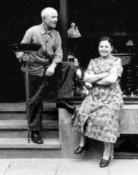 Die Großeltern: Heinrich Fuchs sen. mit Ehefrau Susanna