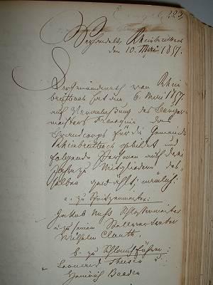 Eintragung im alten Ratsbuch