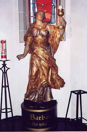 Barbara-Figur in Oberaussem