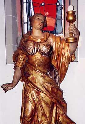 Figur aus der Kirche auf Fortuna 1976