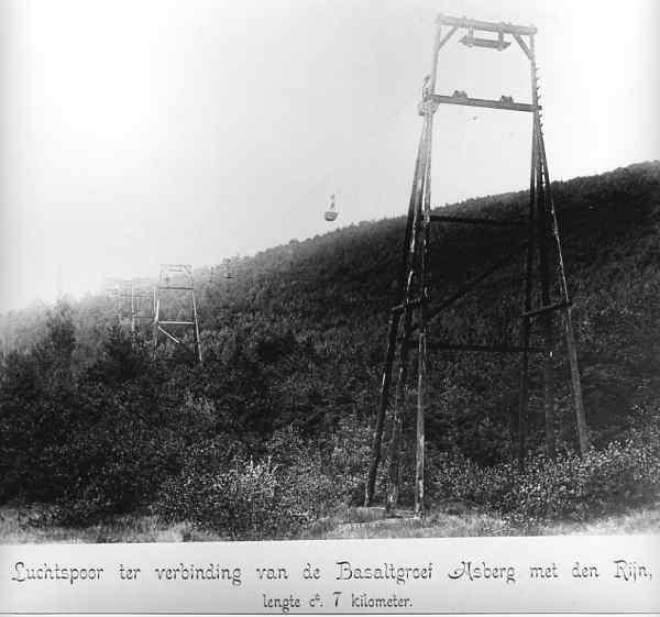 Seilbahn im Bereich des heutigen Waldfriedhofs