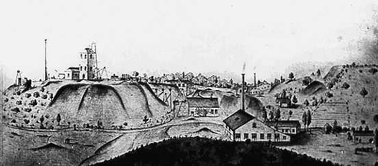 Ansicht der Grube St. Josephsberg um 1875